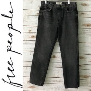 Free People Crop Straight Leg Jeans Sz 27